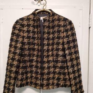 Channel knock off blazer warm snug fit to body